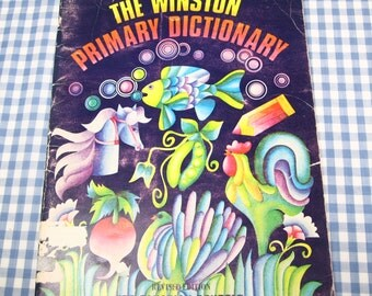 winston primary dictionary for canadian schools, vintage 1972 children's book