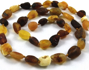Natural Baltic Amber  Maximum Effective Baby Teething Necklace