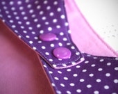Bandana Bib - Purple Polka Dots