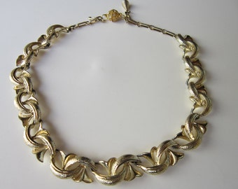 Vintage Coro Gold tone Choker Necklace