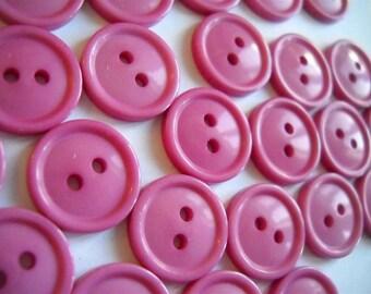 25 buttons- dark rose-  15mm