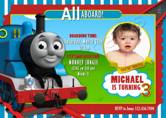 Thomas The Train Personalized Birthday Party By Cutemoments