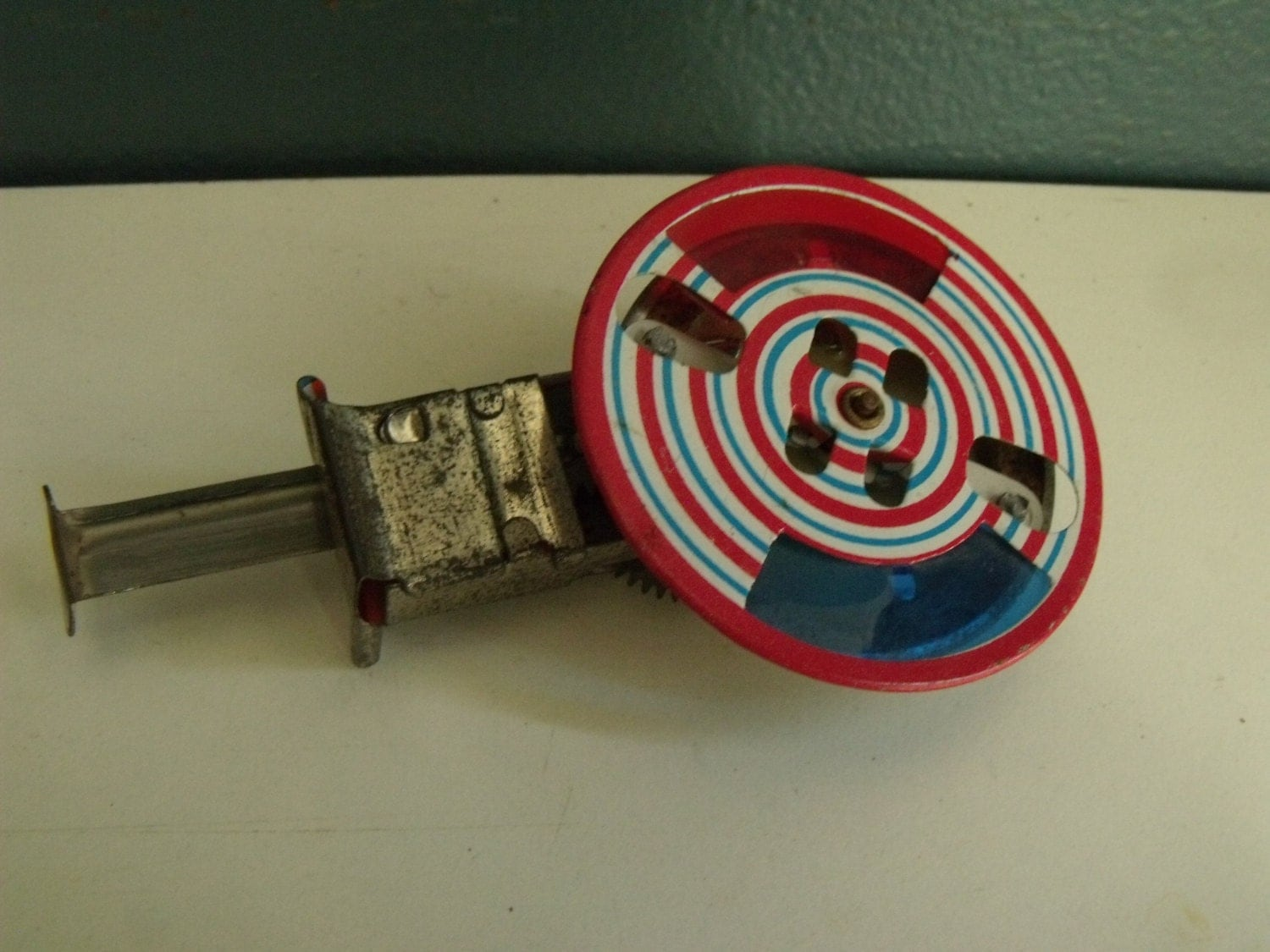 Vintage Toy Sparkler Spinning Wheel Noisemaker 50s Spinner