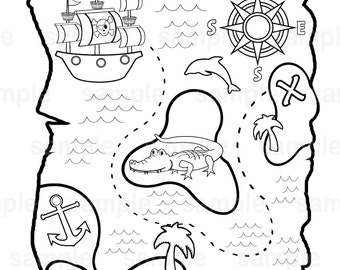 Critical image throughout pirate treasure map printable
