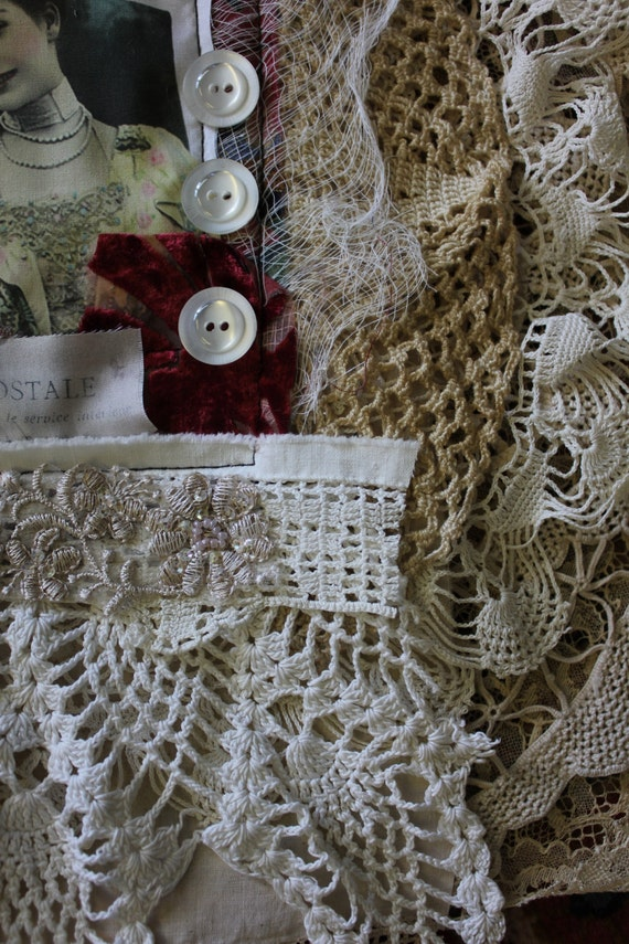 Lace fabric page kit