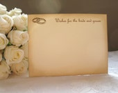 Wedding Rings Wish Cards - Ivory and Brown