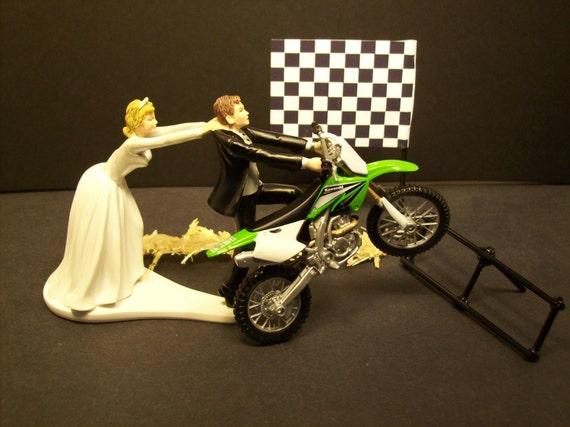 Motorcycle Kawasaki Green Dirt Bike Start Pole Bride By Mikeg1968