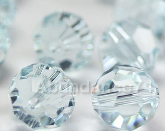Swarovski Elements Crystal Beads 5000 Round Ball Beads LIGHT AZORE - Available in 4mm ,6mm and 8mm
