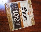 Shiner 102 Double Wheat Natural Stone Coaster