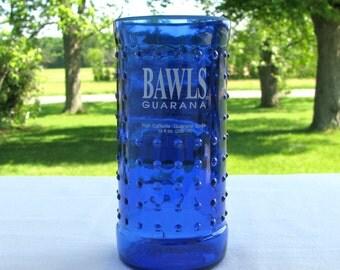 Cobalt Blue Bawls Guarana Tumbler Recycled Bottle Glass
