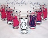 4 Personalized Bachelorette Party 2 oz. Shot Glasses, Perfect for the Bride to Be