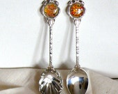 Gift for Mother Vintage Tea Spoons, Traditional English, Silverplated, Set of Two in original Boxes,  Great Gift for Mother