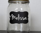 Chalkboard Wedding Mason Jar Labels 48, 100, 150, 200 --Mason Jar, , Jars, Glasses, Wedding - FREE CHALK MARKER