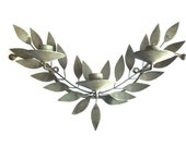Metal Candle Holder Leaves Wall Sconce Rustic Decor Laurel