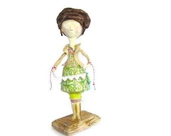 Handmade Collectible Art Doll Victorian Inspired Modern Keepsake