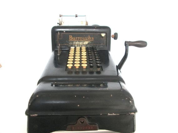 burroughs adding machine value