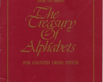 The Treasury of Alphabets for Counted Cross Stitch by Leisure Arts