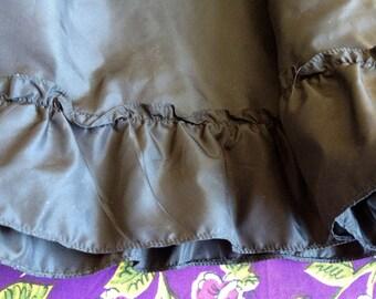 Slip Barron label Long Black Vintage with Ruffles LIKE A DRESS Unusual Size 34 / Vintage size 16 Modern 12