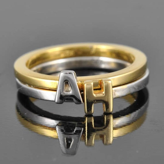 letter a gold ring initial ring personalized gift bridesmaid gift bridal 17510 | il 570xN.416933480 j3up