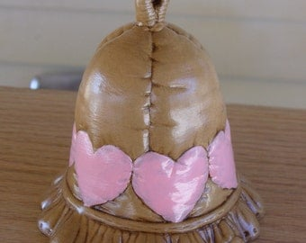 Ceramic Bell with Hearts