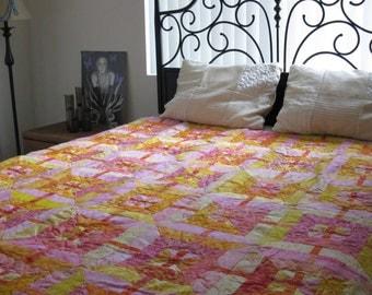 Lap Quilt - Pink Lemonade