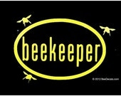 Beekeeping Sticker Beekeeper Euro Car Sticker Bee Sticker Vinyl Decal