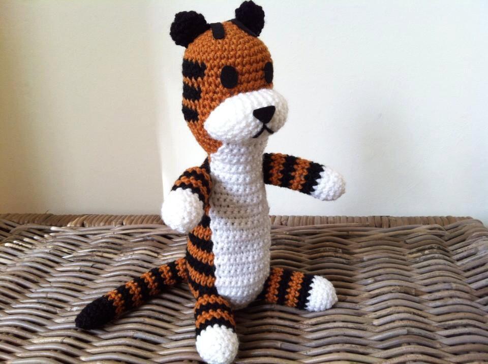 Harold the tiger plush doll crochet big by LottiesCreations