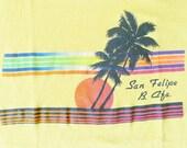 Vintage 80s San Felipe Baja California Yellow T-Shirt
