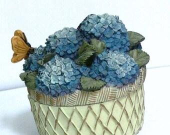 blue flowers   music box