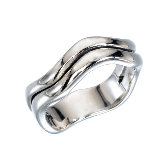 heavy sterling silver ring solid silver ring 925 by