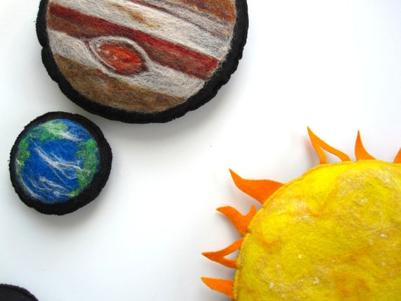 Montessori Toy. Sun and Planets Combined Set. 3D Flashcards. Made to Order.