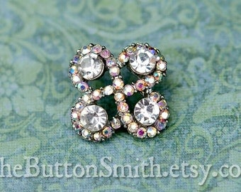 Rhinestone Buttons -Aubree- (18mm) RS-046 - 20 piece set