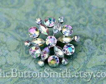 "Rhinestone Buttons ""Lisa"" (21mm) RS-045 - 5 piece set"