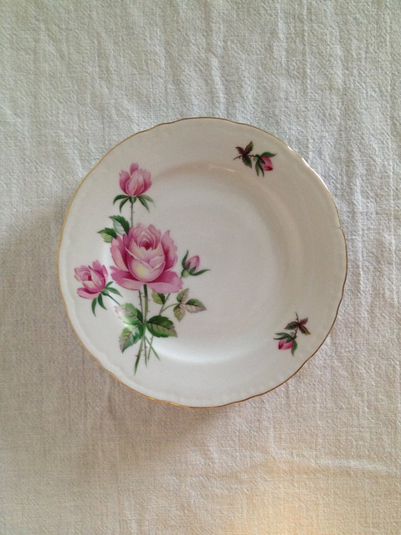 Vintage Shabby Chic Rose Dishes Dessert By Thelittlethingsvin