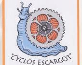 Cyclos Escargot,  Humorous Bike Lover's Blank Card