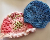 Baby Granny Hats - PDF pattern