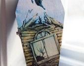 Pierce the Veil - Collide With the Sky Album Art Coffin Jewelry Box
