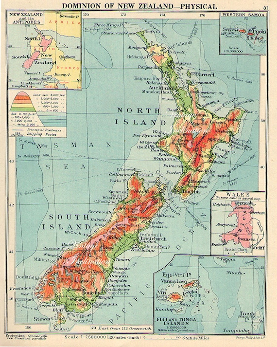 Image result for vintage map of new zealand
