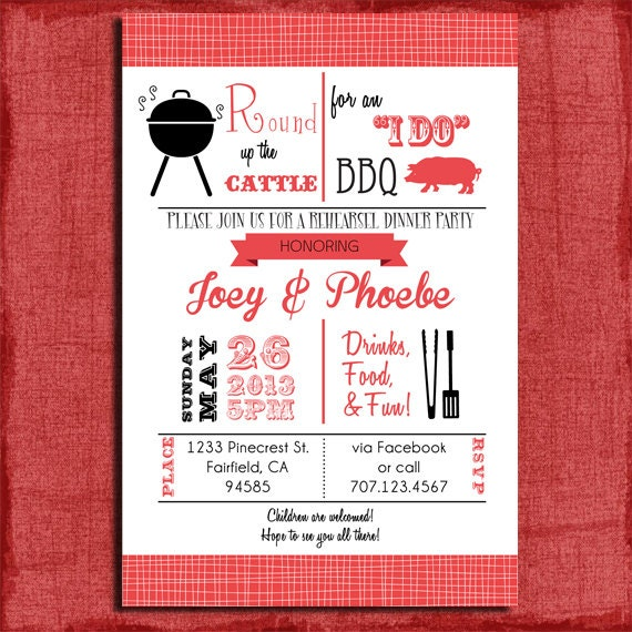 Printable I Do BBQ Retro inspired Barbecue Couples