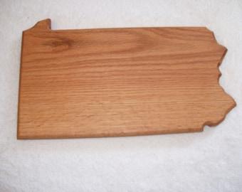 Pennsylvania state cutting board - made of oak