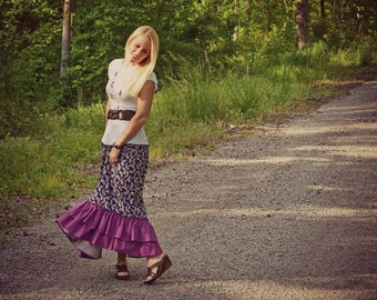 Gloria's Womens Maxi Skirt PDF Sewing Pattern sizes XS-XL