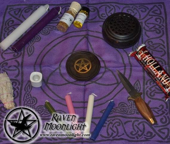 Wiccan Wedding Altar: Altar Set: Basic Wiccan Altar