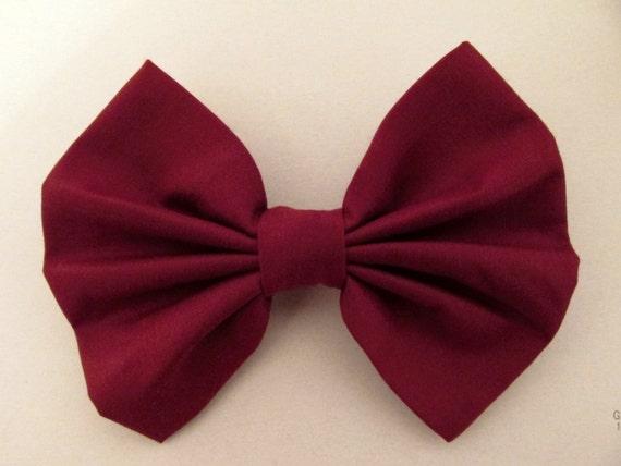 Hair Bow Maroon Burgundy Hair Bow Wine red hair bow hairbow