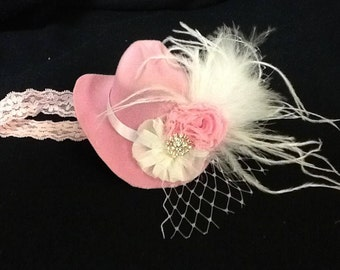 Mini Cowboy Hat with feathers