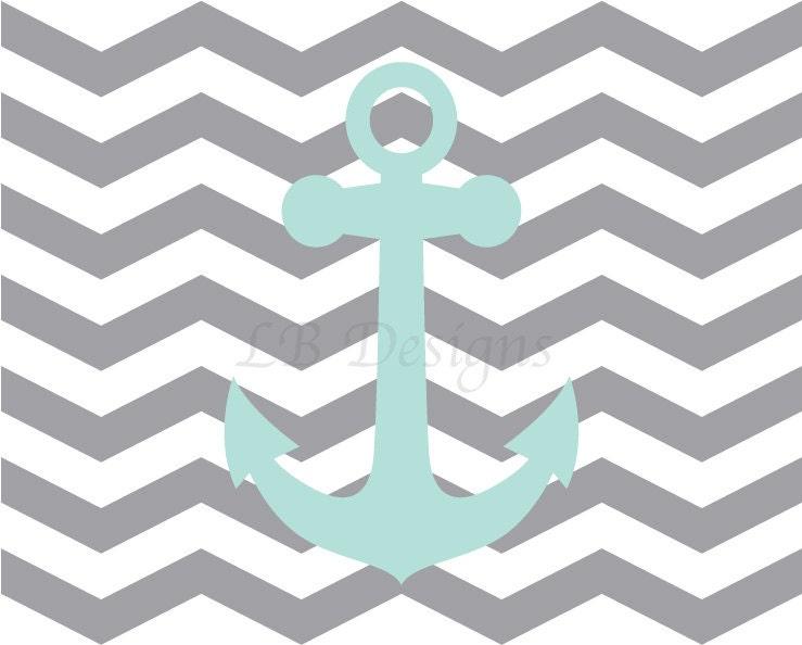 Aqua Blue Ancho... Light Blue Anchor Wallpaper