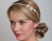 Bridal HeadPiece, wedding headband, bridal headband, wedding headpiece, pearl headband, wedding side tiara headband bridal head piece
