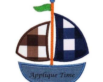 Instant Download Sailboat 4 Machine Embroidery Applique Design 4x4, 5x7 and 6x10