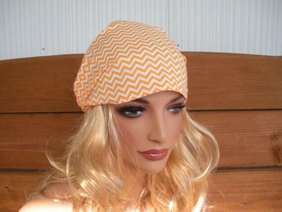 Womens Headband Fabric Headband Accessories Women Headwrap Summer Headband in Off white, Orange Chevron print
