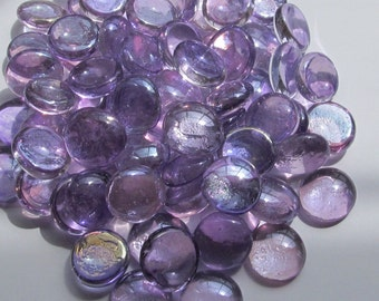 """Lavender Gems 3/4"""" Round Flat Backed Gems - Wedding Colors - Spring Colors - NEW COLOR"""