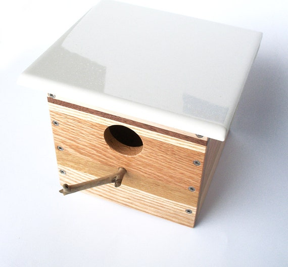 Modern Reclaimed Wood Birdhouse - Nest Box - One-of-a-kind - 5 Species of Wood